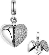 Lovans Lovan 925 Sterling Silver Swarovski Crystal Charm Bead Best Gift For Sister, Mom, Father, Brother, Wife, Daughter,or Friends (only you)