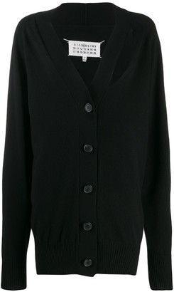 Maison Margiela Cut-Out Cashmere Cardigan
