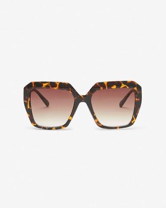 Express Square Tortoiseshell Sunglasses