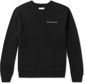 Pop Trading Company + Delta Logo-Print Fleece-Back Cotton-Jersey Sweatshirt