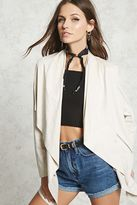 Forever 21 FOREVER 21+ Faux Suede Draped Jacket