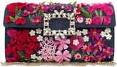 Roger Vivier 3D Floral Clutch Bag