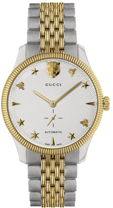 Gucci Men's G-Timeless 40mm Automatic Two-Tone Bracelet Watch