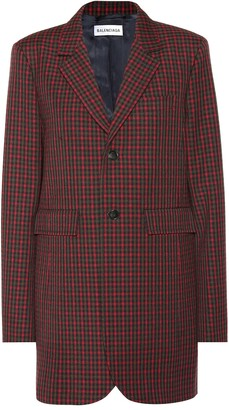 Balenciaga Checked wool blazer