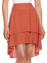 1 STATE Tiered High-Low Skirt