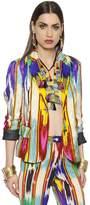 Etro Embossed Printed Silk Blend Jacket