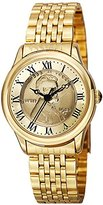 August Steiner Women's CN011YG Yellow Gold Quartz Watch with Lincoln Wheat Penny Dial and Yellow Gold Bracelet