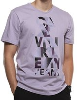 Calvin Klein Jeans Men's Ombre Pyramid Graphic V-Neck T-Shirt