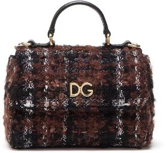Dolce & Gabbana Kids Lame Tweed Tote Bag