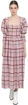 Ganni Cotton & Silk Blend Midi Dress
