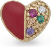 Marc Jacobs Crystal Heart Single Stud Earring