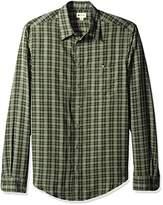 Haggar Men's Men's Long Sleeve Microfiber Woven Shirt