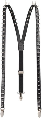 Gucci Leather suspenders with spikes