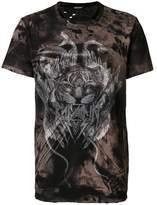 Balmain Men's Brown Cotton T-shirt.