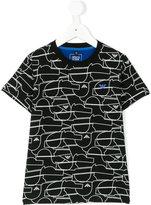 Armani Junior abstract logo print t-shirt - kids - Cotton/Spandex/Elastane - 4 yrs