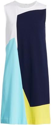 Joan Vass Sleeveless Colorblock Dress