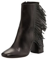 Brunello Cucinelli Leather Bootie with Monili Fringe