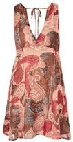 **Say It Isn't So Orange Paisley Print Mini Tea Dress by WYLDR