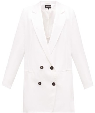 Ann Demeulemeester Lace-up Double-breasted Cotton-blend Blazer - Womens - White