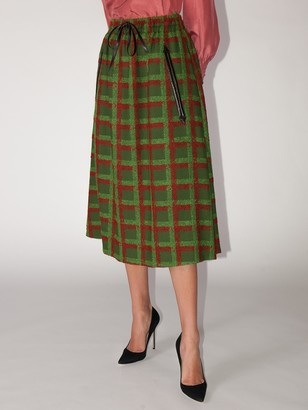 Gucci Lvr Exclusive Tartan Skirt