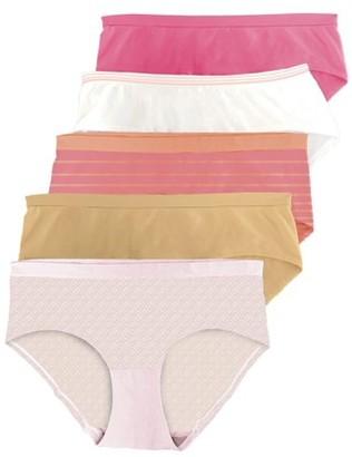 Secret Treasures women's seamless hipster panties, 5-pack