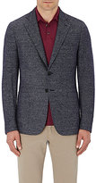 Isaia Men's Tweed Two-Button Sportcoat-BLUE