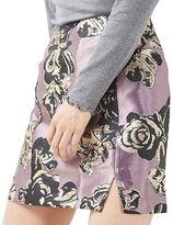Topshop PETITE Jacquard Pelmet Mini Skirt