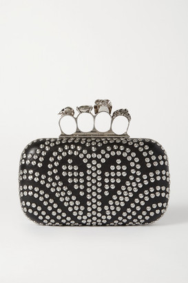 Alexander McQueen Box Studded Leather Clutch - Black