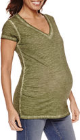 A.N.A a.n.a Short Sleeve V Neck T-Shirt-Womens Maternity