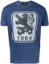 DSQUARED2 lion print t-shirt - men - Cotton - M