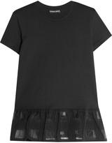 Markus Lupfer Ruffled cotton-jersey T-shirt