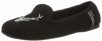 Living Kitzbühel Women's Laschenballerina mit Hirsch Low-Top Slippers