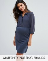 Mama Licious Mama.licious Mamalicious Maternity Nursing Shirt Dress
