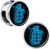 Body Candy Stainless Steel Grenade Screw Fit Plug Set of 2 5/8""
