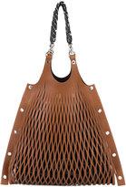 Sonia Rykiel laser cut oversized bag - women - Cotton/Calf Leather/Brass/zamac - One Size