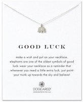 Dogeared Sterling Silver Good Luck Elephant Necklace
