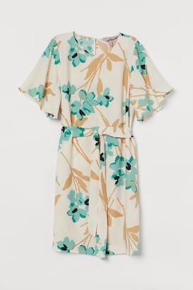 H&M Tie Belt Dress - Beige