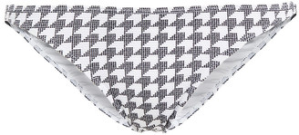 Onia Ashley Houndstooth Textured Low-rise Bikini Briefs