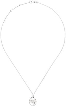 Annoushka 18kt white gold diamond initial W necklace