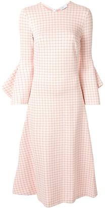 Rosetta Getty Check Print Midi Dress