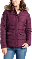 U.S. Polo Assn. Merlot Quilted Faux Fur Hood Jacket