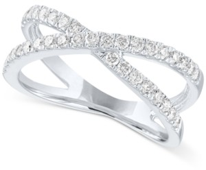Forever Grown Diamonds Open Setting Lab Grown Diamond Statement Ring in Sterling Silver