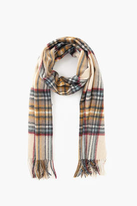 Barbour Natural Lonnen Check Scarf