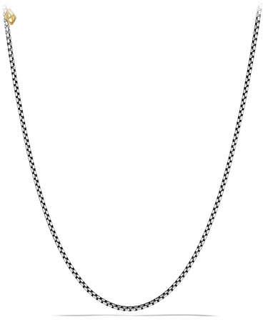 "David Yurman Sterling Silver Box Chain Necklace, 20"""
