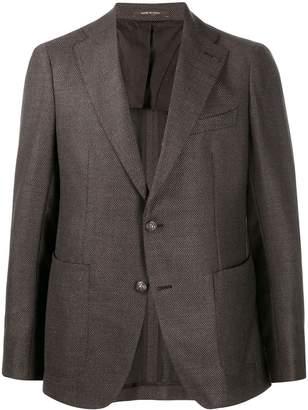 Tagliatore textured tailored blazer