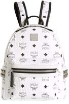 MCM Mini Stark Studded Backpack, White, One Size