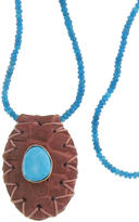 Jacquie Aiche Blessev - Whiskey Amulet on Turquoise