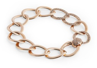 Pomellato Rose Gold and Brown Diamond Brera Bracelet