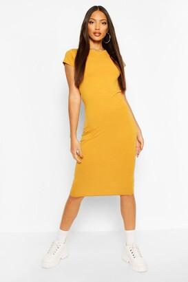 boohoo Cap Sleeve Bodycon Midi Dress