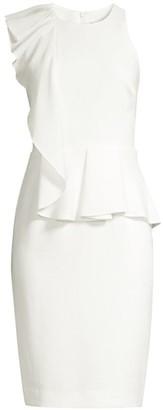 Black Halo Felicia Ruffle Sheath Dress